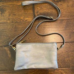 Pewter color purse